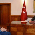 Vali Toprak, Genel Sekreter Yardımcısı Mumcu'yu Kabul Etti