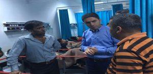 CHP İl Başkanı Kiraz Kazada Yaralananları Ziyaret Etti