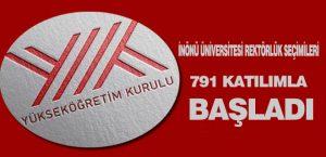 İnönü Üniversitesi Rektörlük Seçimileri 791 Katılımla Başladı