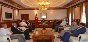 Vali Toprak Mev Genel Başkanı İsmet Elgül'ü Kabul Etti