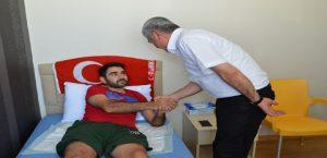 Başkan Polat 15 Temmuz Gazisi Cavit Alpdemir'i Ziyaret Etti