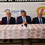 Başkan Gürkan,Gazeteciler ve Televizyoncular Cemiyetini Ziyaret Etti