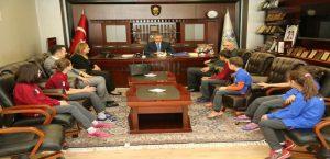 Miniklerden Başkan Yanılmaz'a Ziyaret