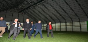 Vali Toprak Hasançelebi'yi Ziyaret Etti