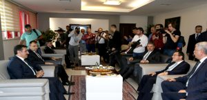 Bakan Tüfenkçi'den Rektörü Prof. Dr. Kızılay'a Ziyaret
