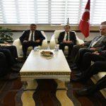 Rektör Kızılay, Başkan Gürkan'a İadeyi Ziyarette Bulundu