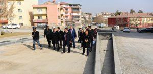 Başkan Gürkan, Kaldırım Çalışmalarını Yerinde İnceledi