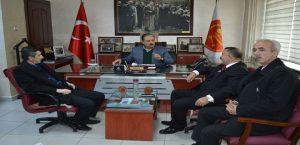 Türk-İş Heyetinden MESOB Başkanı Keskin'e Ziyaret