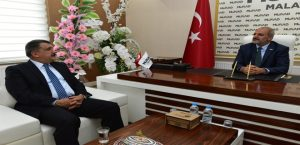 Başkan Gürkan, MÜSİAD Malatya Şube Başkanı Kalan'ı Ziyaret Etti