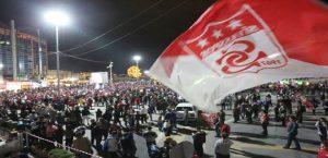 Şampiyon Sivasspor'a 558 Adet Havai Fişekle Kutlama