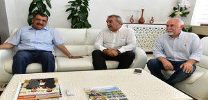Hayder Başkanı Çizmeci, Başkan Gürkan'ı Ziyaret Etti