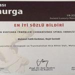 Turgut Özal Tıp Merkezinde 700. Skolyoz ve Kifoz Ameliyatı yapıldı.