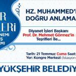 Diyanet İşleri Başkanı Prof. Görmez'den Malatya'da Konferans