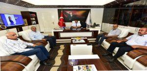 Dilek Cem Evi Başkanı Doğan, Başkan Gürkan'ı Ziyaret Etti