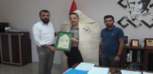 Başkan Akın Malatya Kültür Turizm il Müdürü Levent İskenderoğlu'nu Ziyaret Etti.