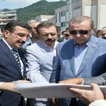Bakan Tüfenkci, Cumhurbaşkanı'a Sarp Gümrük Kapısı'ndaki Çalışmalarını Anlattı