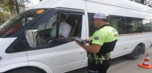 Malatya İl Emniyet Müdürlüğü Trafikte Servisleri Denetledi