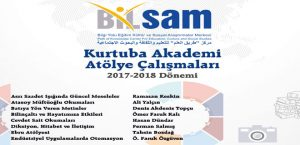 BİLSAM Kurtuba Akademi 2017-18 Çalışma Sezonu