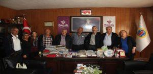 Arapgir'li Ermeni Vatandaşlar Başkan Cömertoğlu'nu Ziyarett Ettiler