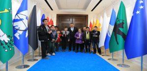 Spor Kulübü Sporcuları, Başkan Gürkan'ı Ziyaret Etti