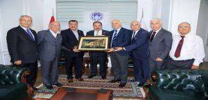 TÜRFAD Yöneticileri, Başkan Gürkan'ı Ziyaret Etti