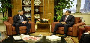 Bakan Tüfenkci, Kazakistan Büyükelçisini Kabul Etti