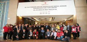 Genel Müdürü Dr. İbrahim 12.Yardım Eğitim Merkezleri Mesul Müdürler Koordinasyon Toplantısını Katıldı