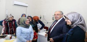 Kutlu Çifti, Kadın ve Gençlik Merkezini Ziyaret Etti