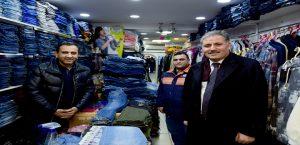 Başkan Çakır Fuzuli Caddesi Esnafını Ziyaret Etti