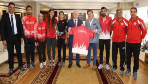Atletizm Milli Takımı'ndan Başkan Sekmen'e Ziyaret