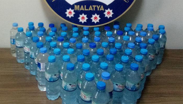 Malatya'da Sahte Rakı Operasyonu