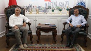 Malatya Bingöllüler Derneği Başkanı Balat, Başkan Güder'i Ziyaret Etti