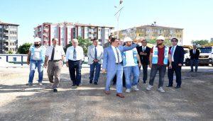 Gürkan,Devlet Hastanesi İnşaat Alanında İncelemede Bulundu