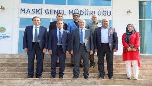 Başkan Güder, MASKİ Genel Müdürü Mehmet Yaşar Karataş'ı Ziyaret Etti
