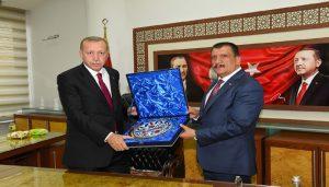 Cumhurbaşkanı Erdoğan'dan Başkan Gürkan'a Ziyaret