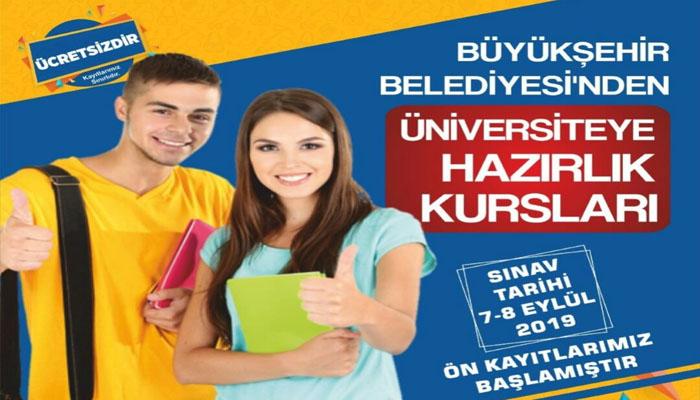 Büyükşehir'den Üniversiteye Hazırlık Kursları