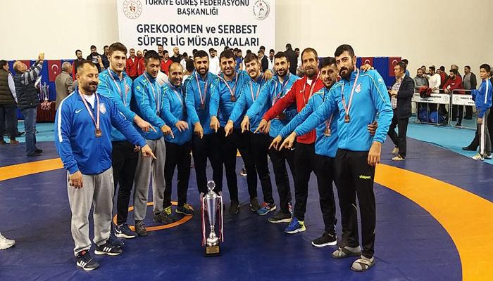 Erzurum Büyükşehir Güreş'te Türkiye 3'üncüsü Oldu