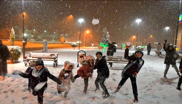 Malatya'da Okullara Kar Tatili
