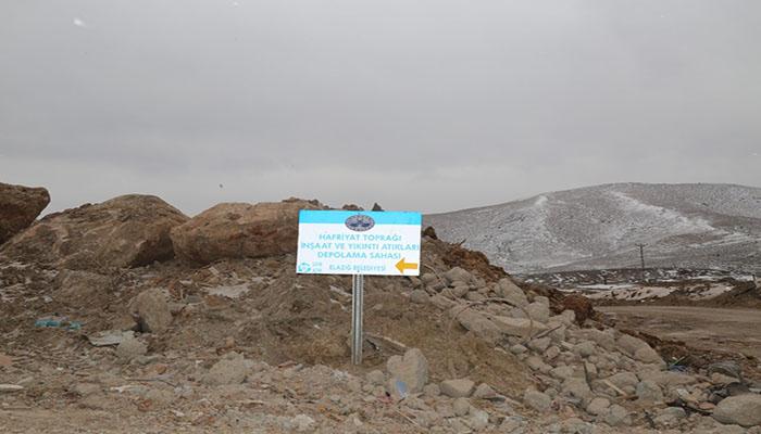 Elazığ Belediyesi'nden Hafriyat Duyurusu