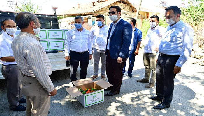 Yeşilyurt Belediyesinden Karantinaya Alınan Vatandaşlara Gıda Desteği