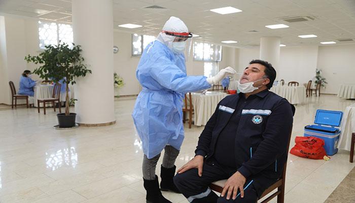 Battalgazi Belediyesi Personeli Covid-19 Testi Yaptırdı