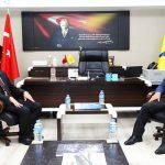 Başkan Güder'den Başmüdür Zaif'e Hayırlı Olsun Ziyareti
