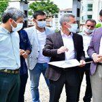 Tufenkci, Çilesiz Mahallesindeki Halı Saha İnşaat Alanını İnceledi