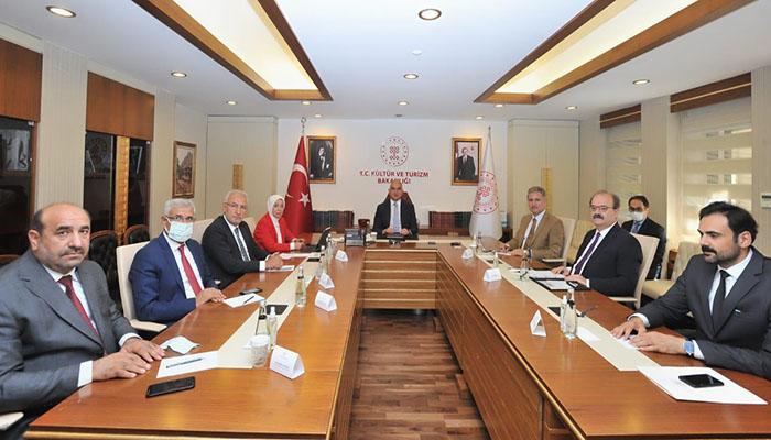 AK Parti heyetinden Kültür ve Turizm Bakanı Mehmet Nuri Ersoy'a ziyaret