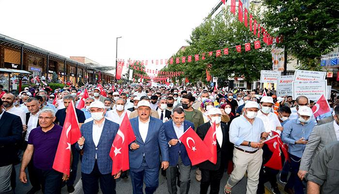 Binlerce Malatyalı Kortej Yürüyüşünde Biraraya Geldi