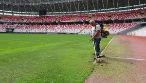 4 Eylül Stadyumunda Temizlik Çalışmaları Tamamlandı