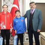 Pentathlon Türkiye Şampiyonu Dağdeviren'i Ziyaret Etti